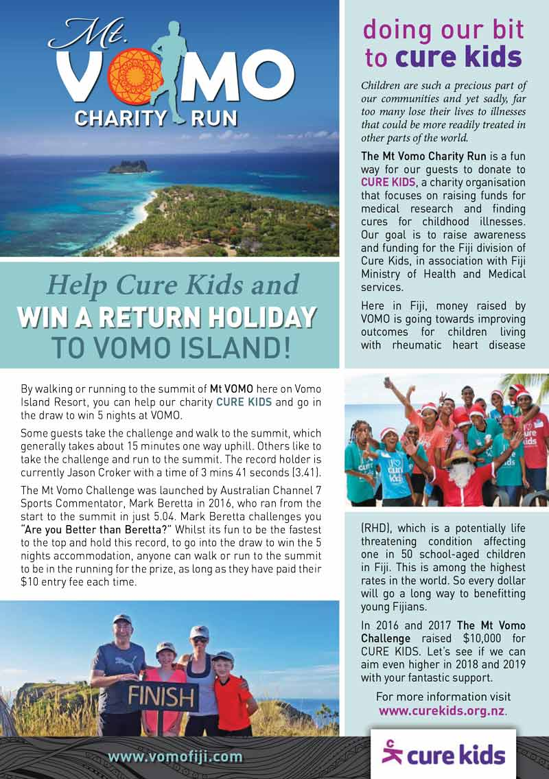 Mt Vomo Charity Run Flyer