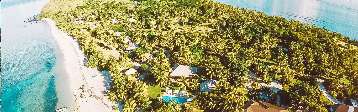 The Residence Aerial Showing Home Expanse And Pool Area Vomo Island Fiji