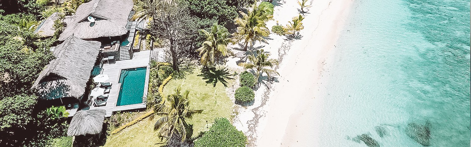 The Royal Beachfront Residence On Vomo Island Fiji Aerial Showing Proximity To Beach