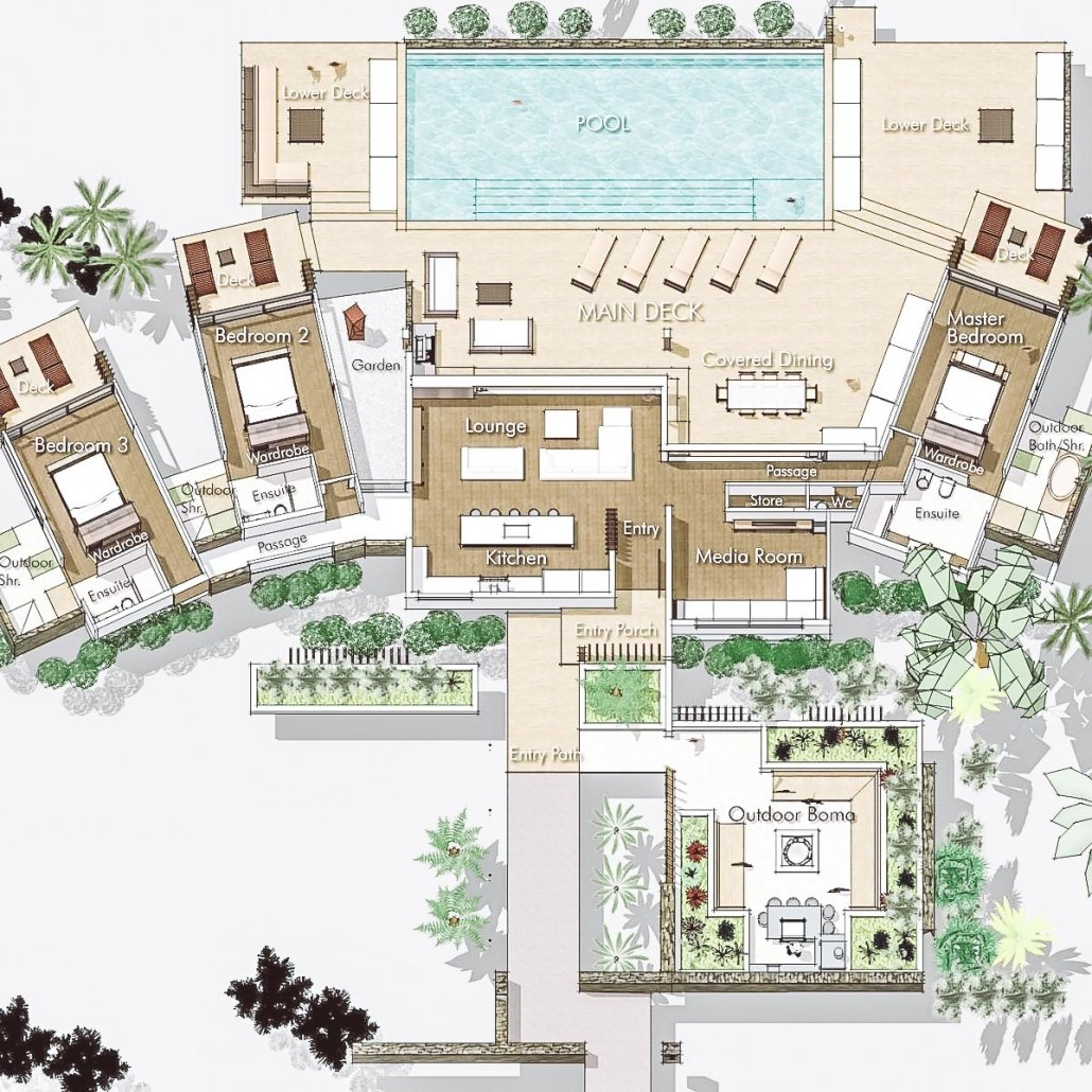 Vomo The Beachouse Floor Plan