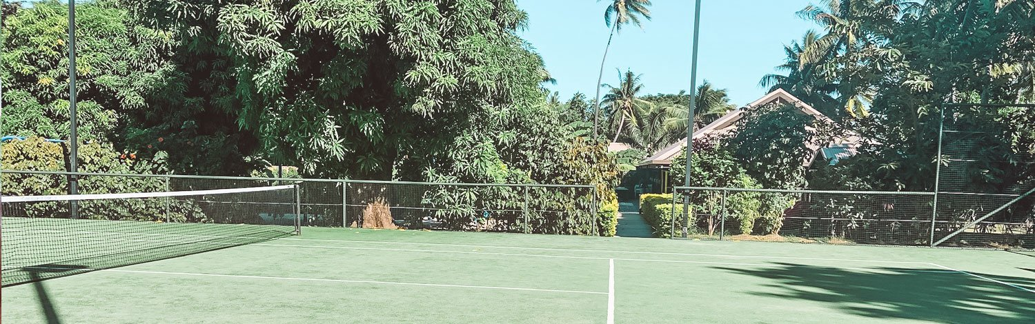Tennis Court On Vomo Island Fiji