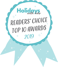 Holidays With Kids - Top 10 Awards Logo