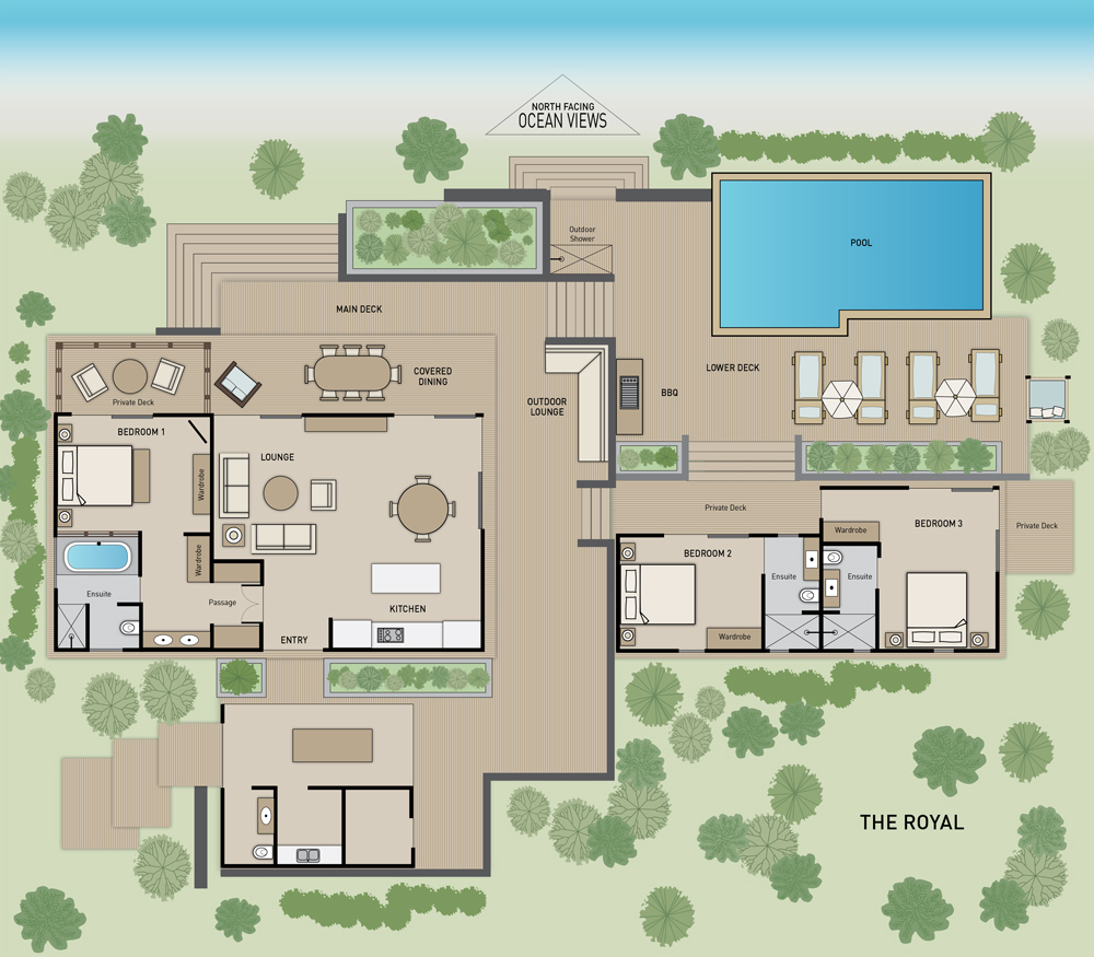 The Royal Residence - Floor Plan