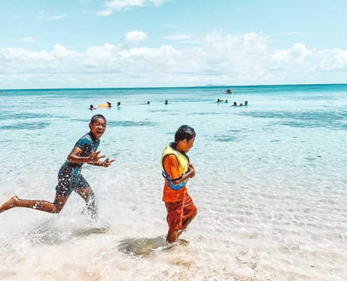 Vomo fiji resort family fun day for staff families on island