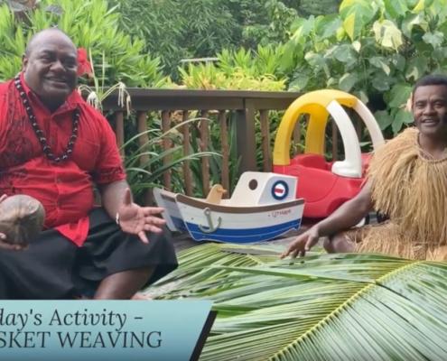 Vomo island fiji kids village episode one bastet weaving activity