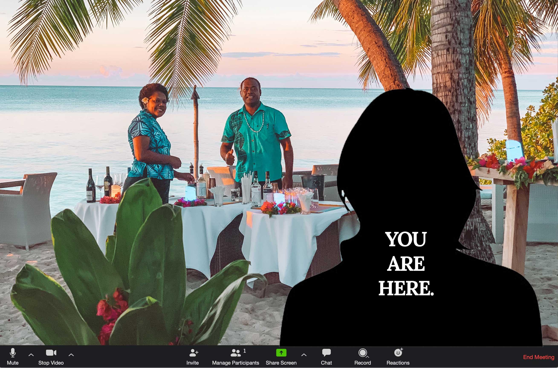 Let S Pretend Zoom Virtual Backgrounds Vomo Island Fiji