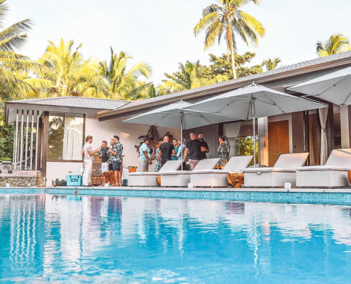 Fiji party packages cocktail party at the residences vomo island fiji