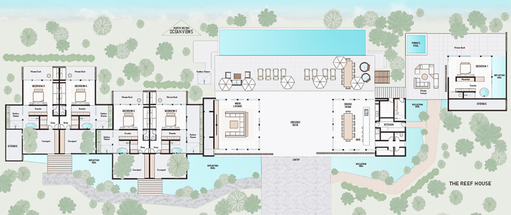 Fiji luxury escapes luxury holiday home on vomo the reef house floor plans