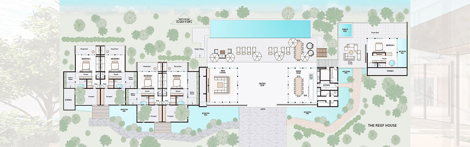 The Reef House Residence - Floor Plan