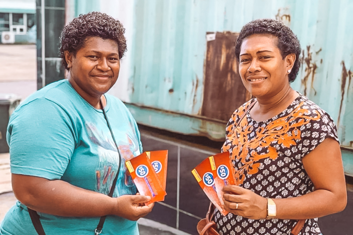 Sulu and Mereoni receiving $100 worth of food vouchers